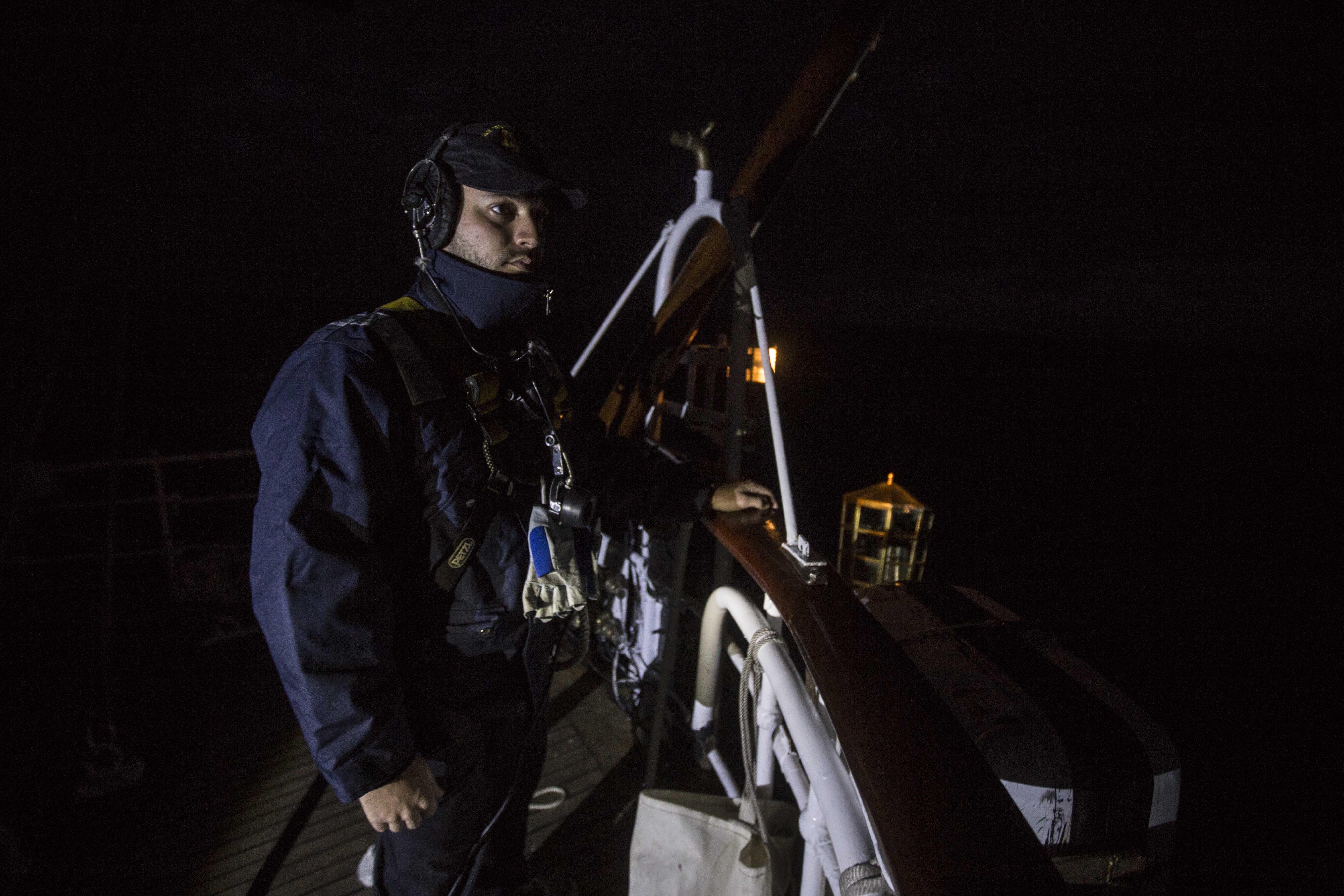 Una noche en Elcano, el buque escuela de la Armada