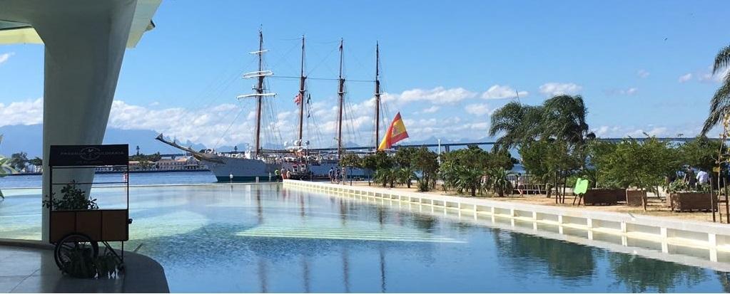 El Juan Sebastián de Elcano llega a Brasil