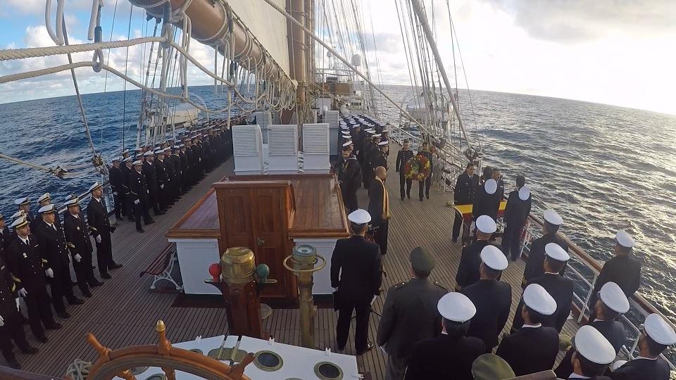 Elcano, en memoria del capitán de fragata Montojo y del submarino ARA San Juan