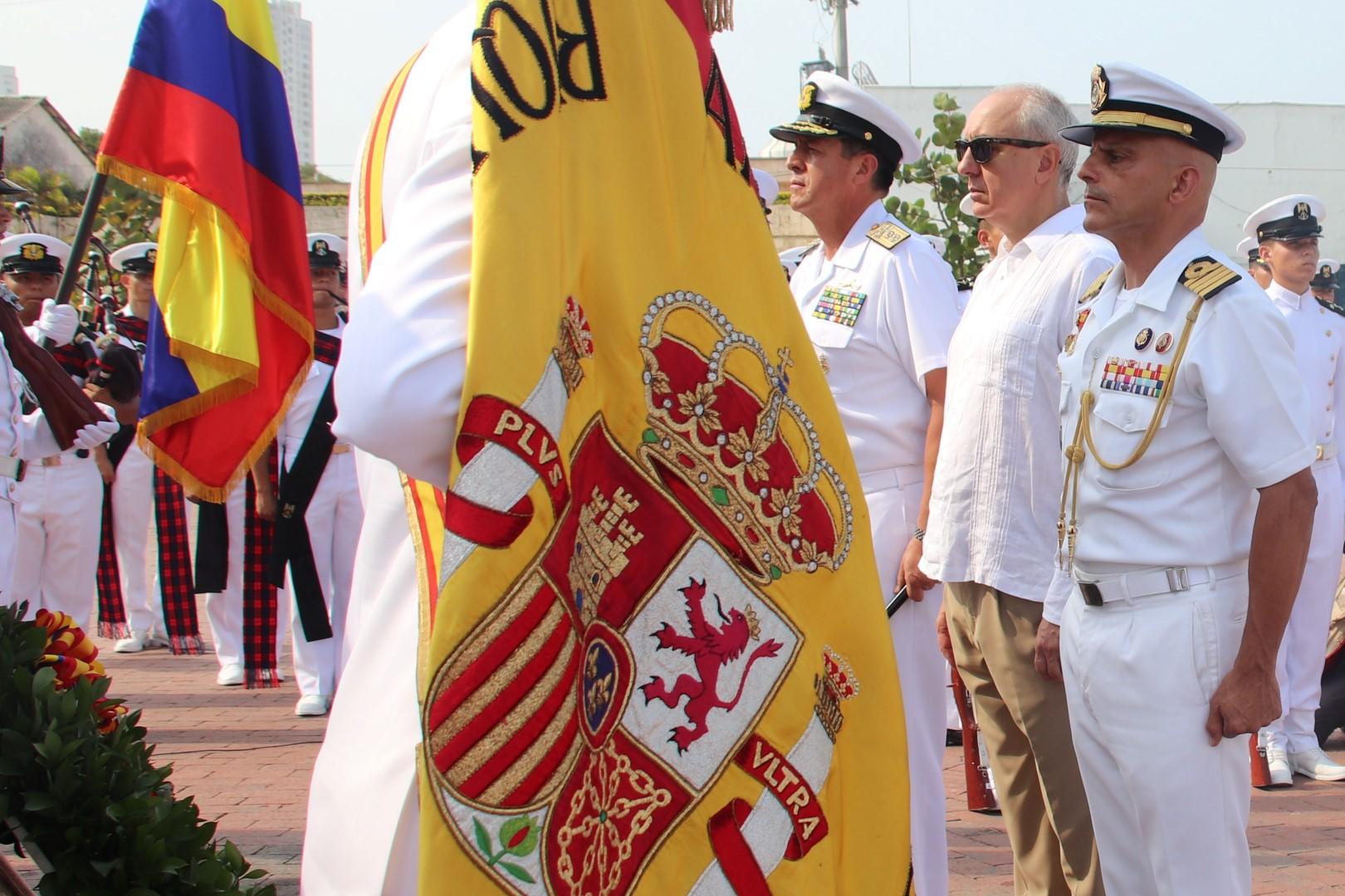 Elcano rinde homenaje a Blas de Lezo en Cartagena de Indias
