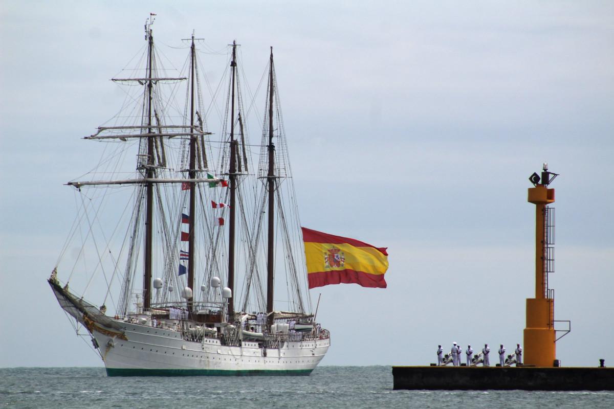 El buque escuela llegó el miércoles 20 de marzo a México. Foto: EFE