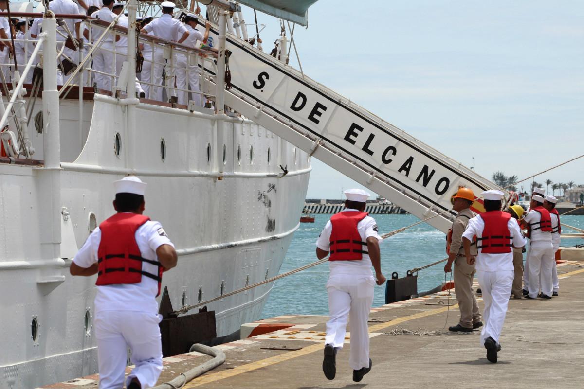 El bergantín-goleta permanecerá en Veracruz hasta el próximo domingo 24. Foto: EFE
